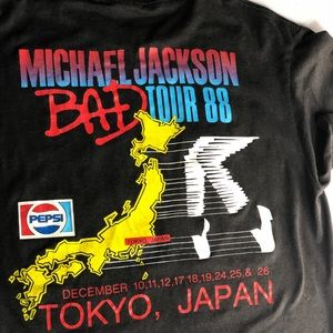 Michael Jackson Bad tour shirt